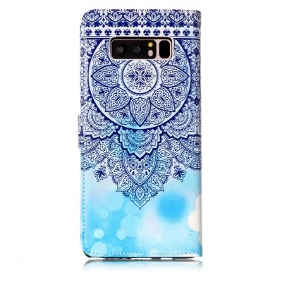 Embossed Flower Pattern Leather Cover Case for Samsung Galaxy Note 8