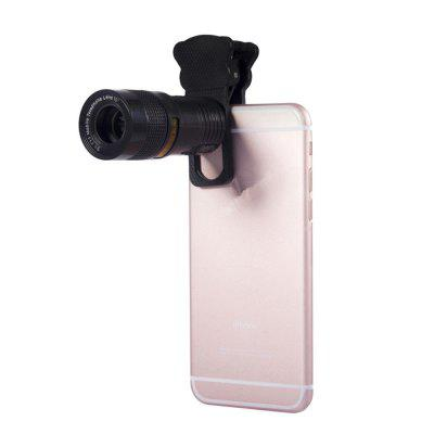 Universal 5-in-1 Lens with Clip for Phone