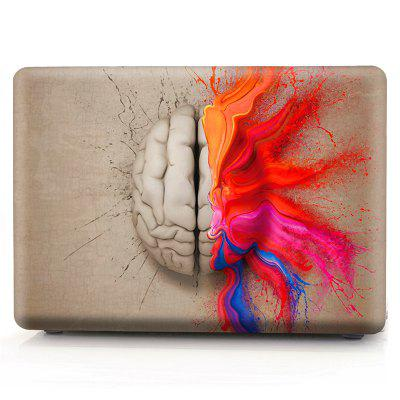 Computer Shell Laptop Case Keyboard Film Set for MacBook Air 13.3 inch -3D Watercolor Left or Right Brain