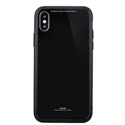 TPU Glass Two in One carcasa de carcasa de teléfono móvil para iPhone X