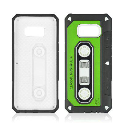 The Ultra Thin Mobile Phone Protection Shell Tape Nostalgia Case for Samsung Galaxy S8 Plus