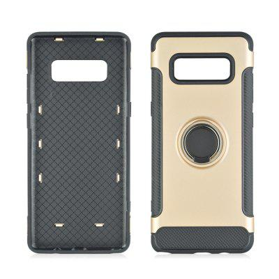 360 Degree Rotation TPU PC Carbon Fiber Support Ring  Mobile Phone Protection Shell Case for Samsung Galaxy Note 8