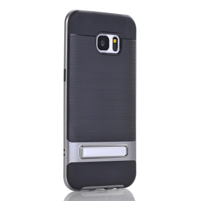 Bracket Wire Drawing Back Cover Mobile Phone Shell Case for Samsung Galaxy S7 Edge