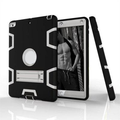 Tablet Hybrid Shockproof Protect Armor Holder Heavy Duty Kickstand Cover Shell for New iPad 2017 9.7 CaseTablet Accessories<br>Tablet Hybrid Shockproof Protect Armor Holder Heavy Duty Kickstand Cover Shell for New iPad 2017 9.7 Case<br><br>Compatible models: For iPad<br>Features: Full Body Cases, Anti-knock, Bumper Frame, Button Protector, Cases with Stand, Dirt-resistant<br>For: Tablet PC<br>Material: Plastic, Silicone<br>Package Contents: 1 x Case<br>Package size (L x W x H): 28.00 x 18.00 x 8.00 cm / 11.02 x 7.09 x 3.15 inches<br>Package weight: 0.2600 kg<br>Product weight: 0.2500 kg<br>Style: Mixed Color