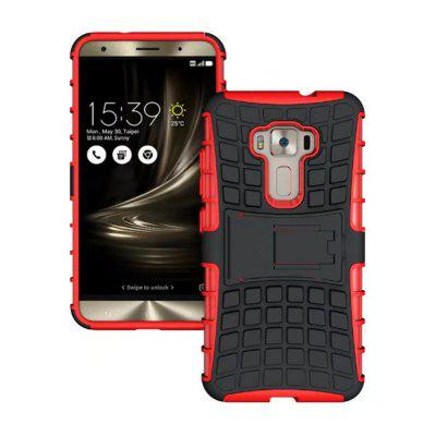 Buy RED Rugged Spider Armor Heavy Duty Hybrid TPU Silicone Stand Impact Cover for Zenfone 3 ZE520 KL Case for $4.45 in GearBest store