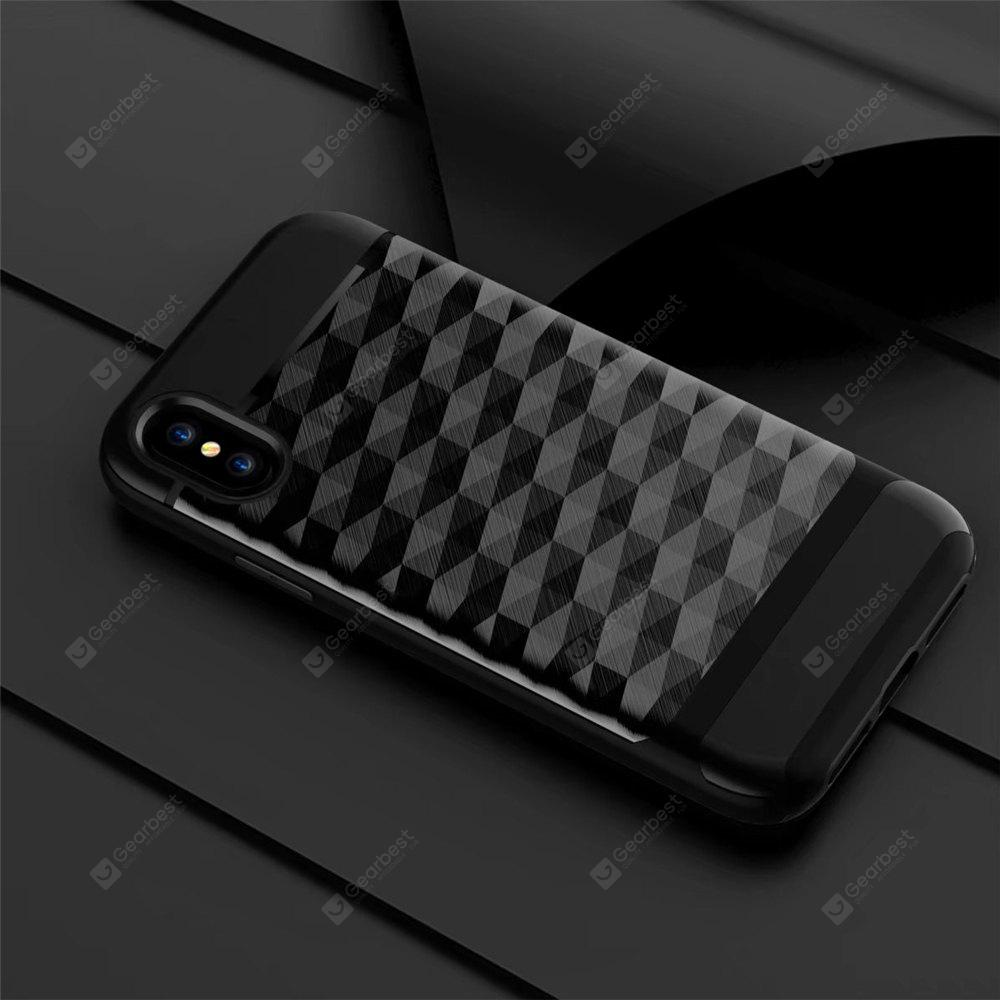 Hybrid Hard PC + Soft TPU Slim Fit Heavy Duty Phone Case Textura de metal resistente y parachoques Funda protectora para iPhone X