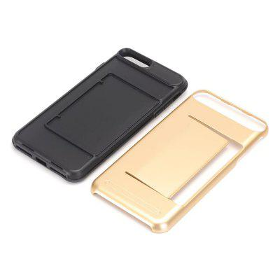 Dual Layer Protection Wallet Card Slot Hybrid Slim Fit Anti-scratch Shockproof Protective Shell for iPhone 7 Plus / 8 PlusiPhone Cases/Covers<br>Dual Layer Protection Wallet Card Slot Hybrid Slim Fit Anti-scratch Shockproof Protective Shell for iPhone 7 Plus / 8 Plus<br><br>Compatible for Apple: iPhone 7 Plus, iPhone 8 Plus<br>Features: Back Cover, Anti-knock, FullBody Cases<br>Material: PC, TPU<br>Package Contents: 1 x Phone Case<br>Package size (L x W x H): 18.00 x 8.00 x 2.00 cm / 7.09 x 3.15 x 0.79 inches<br>Package weight: 0.0400 kg<br>Style: Solid Color