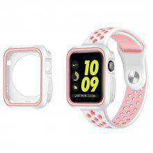 Sports Silicone Protective Case Cover Strap for Apple Watch Series 1 / 2 / 3 42mm