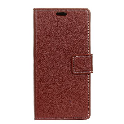 Litchi Pattern PU Leather Wallet Case for Samsung A7 2018
