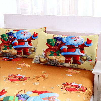 3D Merry Christmas Gift Santa Claus Deep Pocket Bedclothes Cover Bed Sheet PillowcasesBedding Sets<br>3D Merry Christmas Gift Santa Claus Deep Pocket Bedclothes Cover Bed Sheet Pillowcases<br><br>Package Contents: 1 x Bedding Set<br>Package size (L x W x H): 28.00 x 25.00 x 6.00 cm / 11.02 x 9.84 x 2.36 inches<br>Package weight: 1.5000 kg<br>Product weight: 1.4500 kg