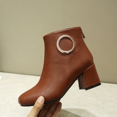 New Fashion Decorative Metal Ring with Square Thick BootsWomens Boots<br>New Fashion Decorative Metal Ring with Square Thick Boots<br><br>Boot Height: Ankle<br>Boot Type: Fashion Boots<br>Closure Type: Zip<br>Gender: For Women<br>Heel Type: Chunky Heel<br>Package Contents: 1xShoes(pair)<br>Pattern Type: Solid<br>Season: Winter, Spring/Fall<br>Toe Shape: Square Toe<br>Upper Material: PU<br>Weight: 1.2320kg