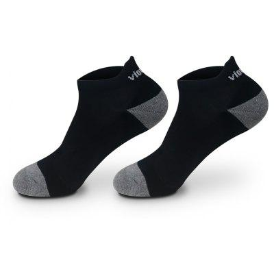 Buy BLACK 2 Pairs Viowinds Athletic Socks Running and Basketball for $17.87 in GearBest store