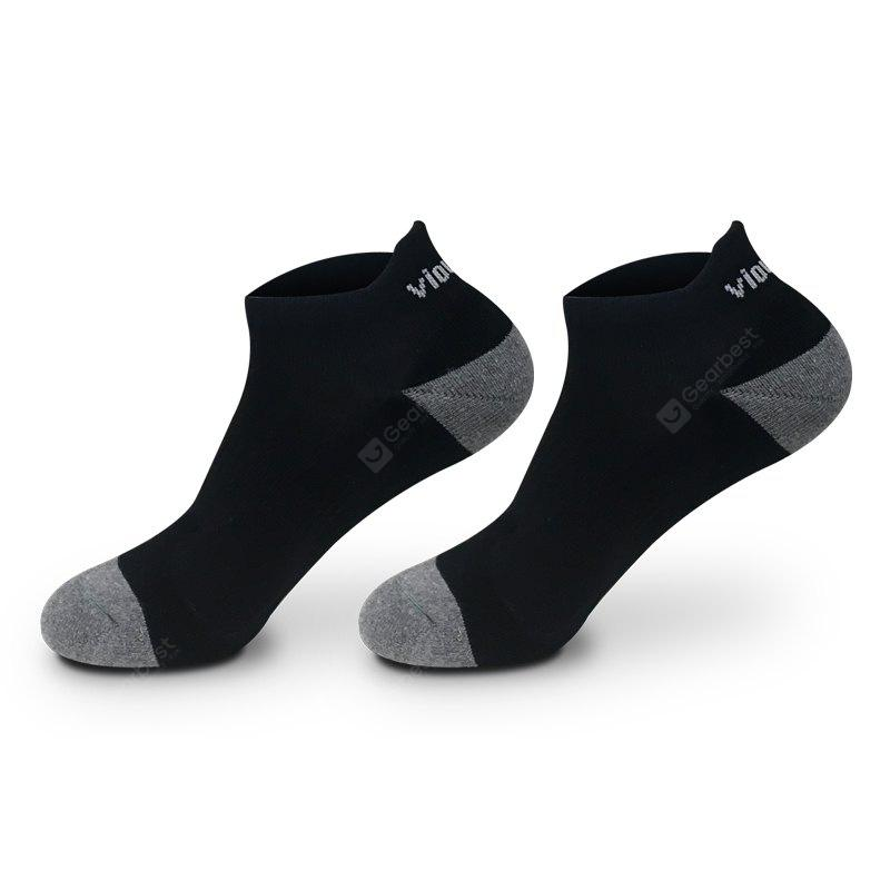 BLACK 2 Pairs Viowinds Athletic Socks Running and Basketball