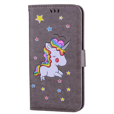 Cute Unicorn  PU Leather Wallet Flip Protective Case Cover with Card Slots and Stand for Samsung Galaxy S8 Plus