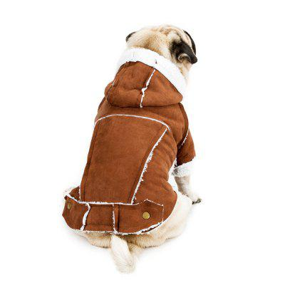 Fashion Suede Winter Jacket for Small Dog