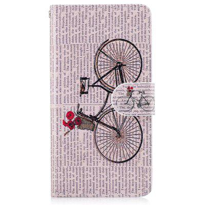 Bicycle Painting Card Lanyard Pu Leather Cover for Samsung J2 prime