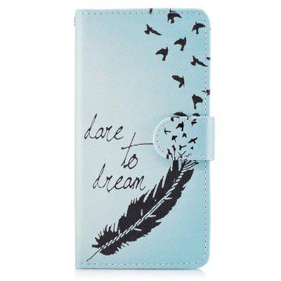 Dog Painting Card Lanyard Pu Leather Cover for Samsung J3 prime
