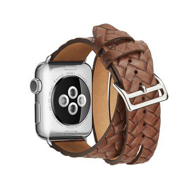 Genuine Leather Double Tour Wraps Band for Apple Watch Series 3 / 2 / 1 42MMSmart Watch Accessories<br>Genuine Leather Double Tour Wraps Band for Apple Watch Series 3 / 2 / 1 42MM<br><br>Material: Genuine Leather<br>Package Contents: 1 x Band<br>Package size: 15.00 x 5.00 x 5.00 cm / 5.91 x 1.97 x 1.97 inches<br>Package weight: 0.1400 kg<br>Product weight: 0.1300 kg