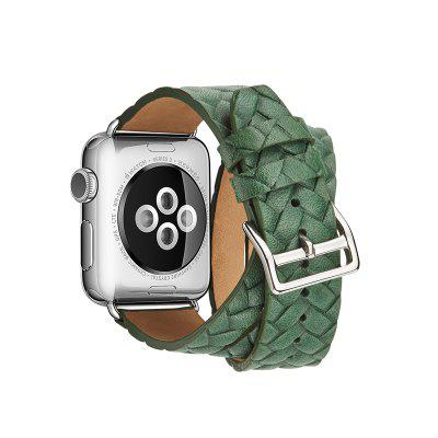 Genuine Leather Double Tour Wraps Band for Apple Watch Series 3 / 2 / 1 38MMSmart Watch Accessories<br>Genuine Leather Double Tour Wraps Band for Apple Watch Series 3 / 2 / 1 38MM<br><br>Material: Genuine Leather<br>Package Contents: 1 x Band<br>Package size: 15.00 x 5.00 x 5.00 cm / 5.91 x 1.97 x 1.97 inches<br>Package weight: 0.1400 kg<br>Product weight: 0.1300 kg