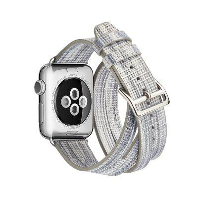 Double Tour Wraps Band High Quality Genuine Leather Loop for Apple Watch Series 3 / 2 / 1 42MMSmart Watch Accessories<br>Double Tour Wraps Band High Quality Genuine Leather Loop for Apple Watch Series 3 / 2 / 1 42MM<br><br>Package Contents: 1 x Band<br>Package size: 15.00 x 5.00 x 5.00 cm / 5.91 x 1.97 x 1.97 inches<br>Package weight: 0.1400 kg<br>Product weight: 0.1300 kg