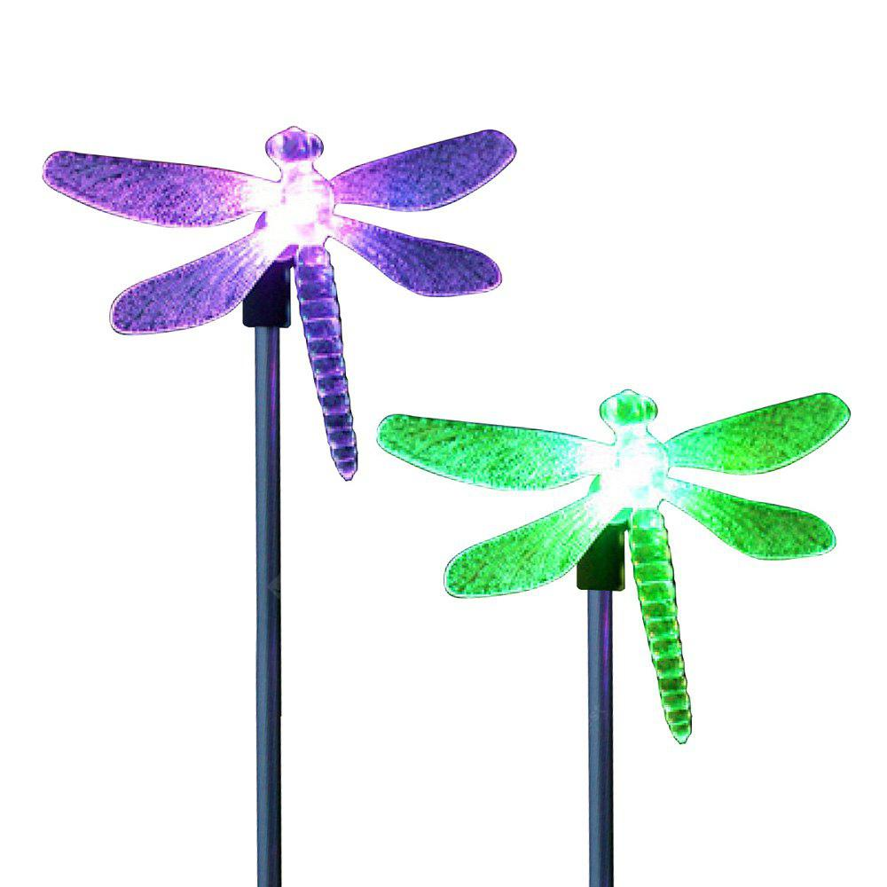 2PCS Solar Color Changing Dragonfly Garden Stake Light