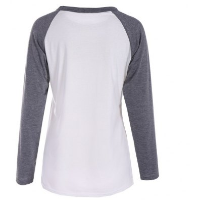 Gray and White Print  T-shirtTees<br>Gray and White Print  T-shirt<br><br>Collar: Round Neck<br>Elasticity: Micro-elastic<br>Fabric Type: Cotton and kapok hemp<br>Material: Cotton<br>Package Contents: 1 x T-shirt<br>Pattern Type: Floral<br>Shirt Length: Regular<br>Sleeve Length: Full<br>Style: Active<br>Weight: 0.2000kg