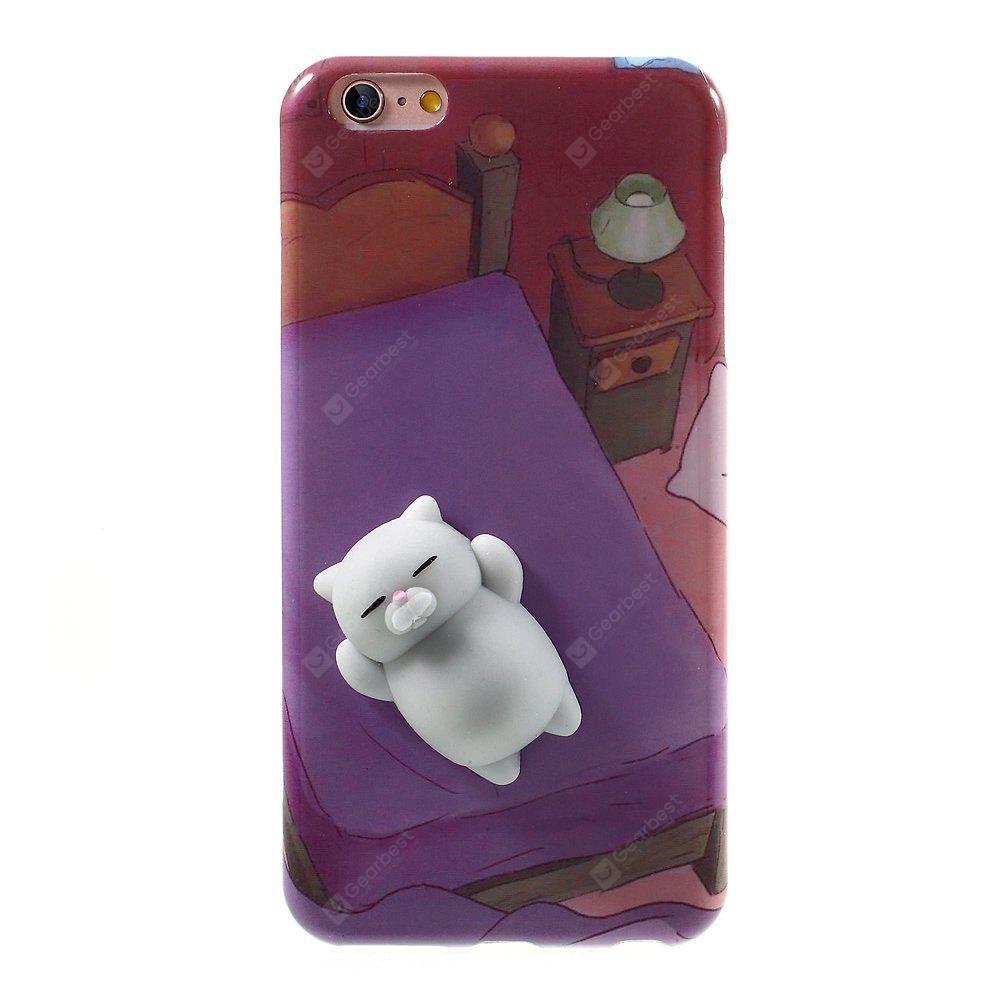 Squishy Bear 3D Cute Soft Silicone Poke Phone Back Case para iPhone 6S Plus / 6S Plus