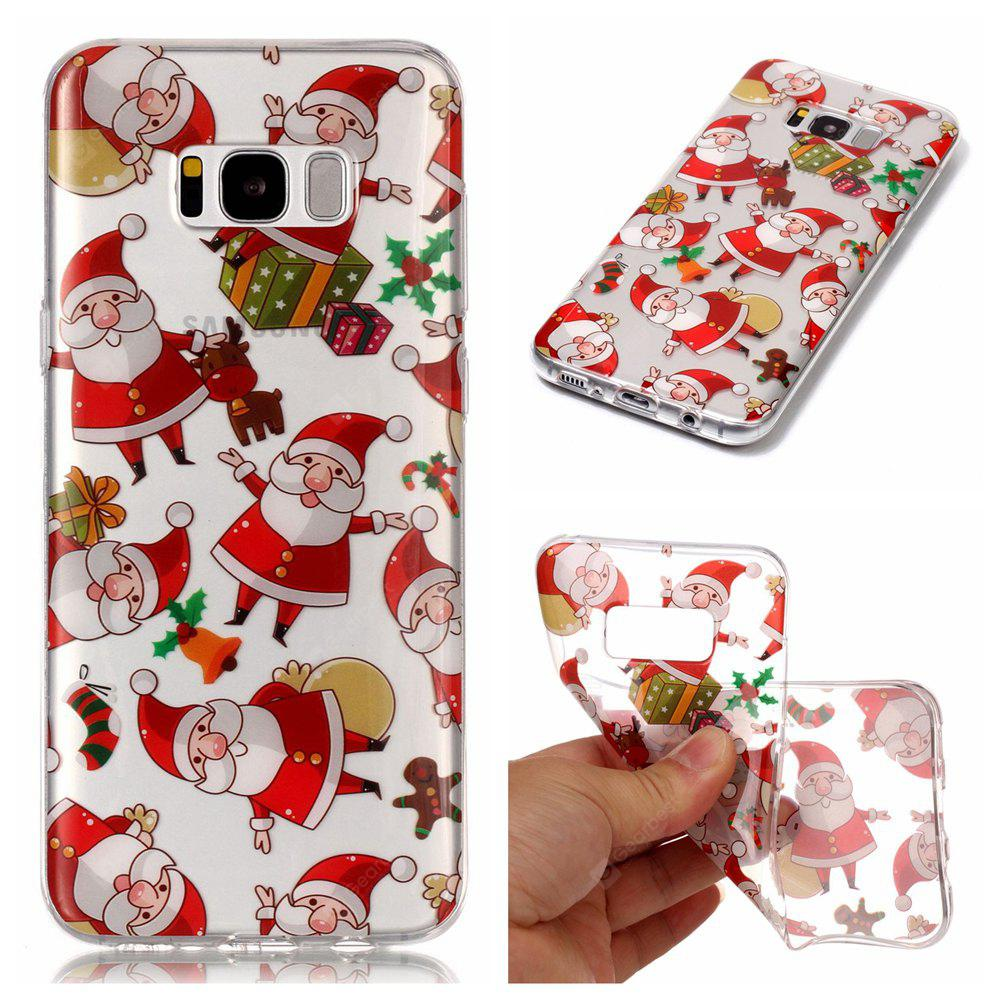 Christmas Style Soft Transparent Clear Cover Case for Samsung Galaxy S8