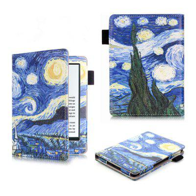 Pattern Folio Case for Kindle 2016 with Sleep / Wake Function