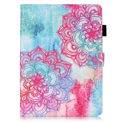 Wkae Mixed Colors Painted Three Dimensional Pattern Flat Leather Case for iPad Pro 9.7 inch