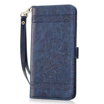 Genuine Quality Retro Style Oil Wax Flower Pattern Flip PU Leather Wallet Case for Samsung Galaxy S7 Edge