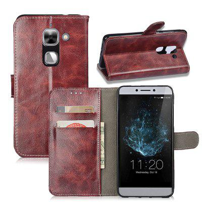 Durable Oil Wax Pattern Flip PU Leather Wallet Case for LeTV Le 2 Max