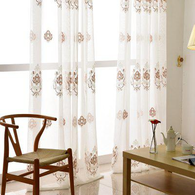 European Minimalist Style Restaurant Embroidered Curtains GrommetWindow Treatments<br>European Minimalist Style Restaurant Embroidered Curtains Grommet<br><br>Crafts: Embroidery<br>Curtain Pattern: Crocodile grain,Embroidered<br>Curtain Style: European Style<br>Curtain Type: Sheer Curtains Shades<br>Package Contents: 1 x Curtain<br>Package size (L x W x H): 30.00 x 15.00 x 6.00 cm / 11.81 x 5.91 x 2.36 inches<br>Package weight: 0.9000 kg<br>Product weight: 0.8000 kg<br>Top Construction: Grommet Top<br>Type: Sheer