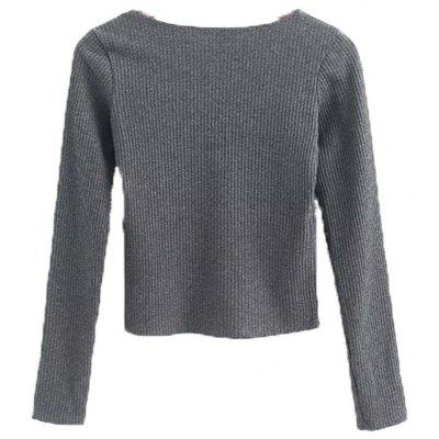 Sleeve Long Sleeve Europe and America Sexy V Collar Female Sweater