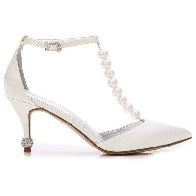 Wedding Pointed Toe Pearl Womens ShoesWomens Pumps<br>Wedding Pointed Toe Pearl Womens Shoes<br><br>Available Size: 36 37 38 39 40 41 42<br>Embellishment: Beading<br>Heel Height: 7.5<br>Heel Height Range: High(3-3.99)<br>Heel Type: Stiletto Heel<br>Insole Material: PU<br>Lining Material: PU<br>Occasion: Wedding<br>Outsole Material: Rubber<br>Package Contents: 1 x Shoes (Pair)<br>Pumps Type: T-Strap<br>Season: Summer, Winter, Spring/Fall<br>Toe Shape: Pointed Toe<br>Toe Style: Closed Toe<br>Upper Material: Mesh<br>Weight: 1.0440kg