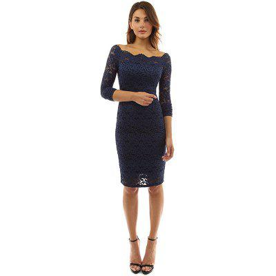 Long Sleeve Lace Sexy DressWomens Dresses<br>Long Sleeve Lace Sexy Dress<br><br>Dresses Length: Knee-Length<br>Elasticity: Micro-elastic<br>Embellishment: Lace<br>Fabric Type: Lace<br>Material: Polyester<br>Neckline: Slash Neck<br>Package Contents: 1 x Dress<br>Pattern Type: Solid<br>Season: Fall<br>Silhouette: Sheath<br>Sleeve Length: Long Sleeves<br>Style: Sexy &amp; Club<br>Waist: Natural<br>Weight: 0.2000kg<br>With Belt: No