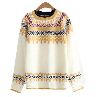 2017 New Ladies' Knitting Ethnic Wind Style Sweater