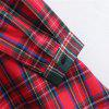New Lady Stitched The Tartan Long Sleeves Long Shirts - RED
