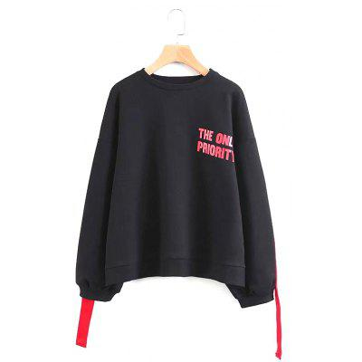 New Women's Fashion Hip Hop Belt Letter Sweatshirt