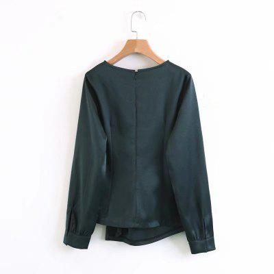 New Womens Fold Garnish Slim ShirtBlouses<br>New Womens Fold Garnish Slim Shirt<br><br>Collar: Round Neck<br>Elasticity: Elastic<br>Embellishment: Pleated<br>Fabric Type: Broadcloth<br>Material: Cotton, Rayon, Microfiber<br>Package Contents: 1 x Shirt<br>Pattern Type: Solid<br>Shirt Length: Regular<br>Sleeve Length: Full<br>Style: Fashion<br>Weight: 0.1000kg