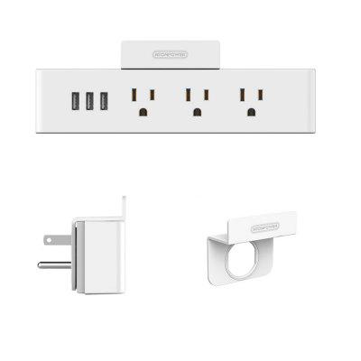 NTONPOWER MNC - 3A3U - US - WH Wall Power StripSmart Socket Plug<br>NTONPOWER MNC - 3A3U - US - WH Wall Power Strip<br><br>Material: PC+ABS<br>Model: MNC - 3A3U - US - WH<br>Package Contents: 1 x Electrical Plug and Socket , 1 x English User Manual , 1 x Service Card<br>Package size (L x W x H): 20.90 x 9.50 x 5.90 cm / 8.23 x 3.74 x 2.32 inches<br>Package weight: 0.3100 kg<br>Product size (L x W x H): 19.70 x 4.50 x 3.00 cm / 7.76 x 1.77 x 1.18 inches<br>Product weight: 0.2800 kg<br>Special function: An Electrical Plug and Socket,  also a charger; bringing you ideal one-stop charging experience.<br>Standard: US standard