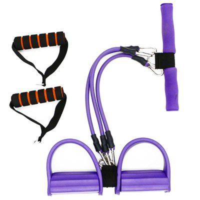 Home Office Feet Rally Fitness Equipment Resistance Foot BandFeatured Sports Products<br>Home Office Feet Rally Fitness Equipment Resistance Foot Band<br><br>Functions: Chest, Comprehensive Fitness Exercise, Hip, Leg, Shoulder<br>Material: TPE<br>Package Content: 1 x Foot Pedal, 3 x Tube, 1 x Handle,2 x Foam Covered Handle<br>Package Size(L x W x H): 52.00 x 28.00 x 10.00 cm / 20.47 x 11.02 x 3.94 inches<br>Package weight: 0.5800 kg<br>Product Size(L x W x H): 50.00 x 26.00 x 9.00 cm / 19.69 x 10.24 x 3.54 inches<br>Product weight: 0.5500 kg<br>Type: Gym Ribbon