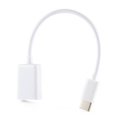 USB Type-C Male Connector to A Female OTG Cable for Chromebook Macbook and Phone