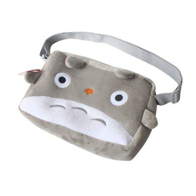 Gray Cat Plush Bag Shoulder Schoolbag Cosplay Kids Hangbag