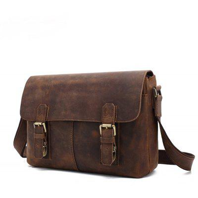 AUGUR Men's Leather Shoulder Bag Messenger Business Briefcase