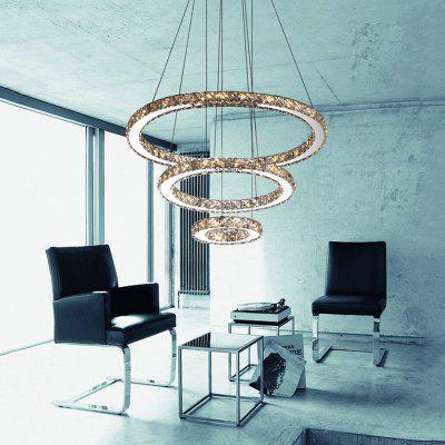 LED Crystal Pendant Light for Dining Room Lamp Cord Lustres Indoor Ceiling Lighting FixturesPendant Light<br>LED Crystal Pendant Light for Dining Room Lamp Cord Lustres Indoor Ceiling Lighting Fixtures<br><br>Battery Included: No,Non-preloaded<br>Bulb Base: None<br>Bulb Included: Yes<br>Bulb Type: LED<br>Certifications: CE,FCC,RoHs<br>Chain / Cord Adjustable or Not: Chain / Cord Adjustable<br>Chain / Cord Length ( CM ): 120<br>Color Temperature or Wavelength: Cool White ( 6000K ), Warm White ( 3000K )<br>Decoration Material: Crystal<br>Dimmable: No<br>Features: Crystal, Bulb Included<br>Finish: Electroplating,Stainless Steel<br>Fixture Height ( CM ): 6<br>Fixture Length ( CM ): 40<br>Fixture Material: Crystal,Metal<br>Fixture Width ( CM ): 40<br>Light Direction: Ambient Light<br>Light Source Color: Cold White,Warm White<br>Lumen: 2400LM<br>Number of Tiers: Triple Tier<br>Package Contents: 1 x Pendant Light<br>Package size (L x W x H): 47.00 x 47.00 x 13.00 cm / 18.5 x 18.5 x 5.12 inches<br>Package weight: 5.2000 kg<br>Product size (L x W x H): 40.00 x 40.00 x 120.00 cm / 15.75 x 15.75 x 47.24 inches<br>Product weight: 4.0000 kg<br>Remote Control Supported: No<br>Shade Material: Crystal<br>Stepless Dimming: No<br>Style: LED, Chic &amp; Modern, Artistic Style, Modern/Contemporary, Simple Style<br>Suggested Room Size: 5 - 10?<br>Suggested Space Fit: Bedroom,Boys Room,Cafes,Dining Room,Entry,Girls Room,Indoor,Kids Room,Living Room,Office,Pathway<br>Type: Pendant Light<br>Voltage ( V ): 110V - 220V,220V - 240V<br>Wattage (W): &gt;20