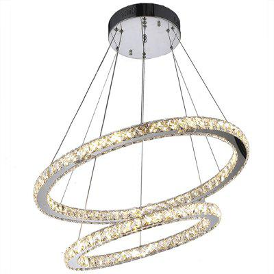 Modern LED Rings Crystal Pendant Light for Living Room RestaurantPendant Light<br>Modern LED Rings Crystal Pendant Light for Living Room Restaurant<br><br>Battery Included: No,Non-preloaded<br>Bulb Base: None<br>Bulb Included: Yes<br>Bulb Type: LED<br>Certifications: CE,FCC,RoHs<br>Chain / Cord Adjustable or Not: Chain / Cord Adjustable<br>Chain / Cord Length ( CM ): 120<br>Color Temperature or Wavelength: Cool White ( 6000K ), Warm White ( 3000K )<br>Decoration Material: Crystal<br>Dimmable: No<br>Features: Crystal, Bulb Included<br>Finish: Electroplating,Stainless Steel<br>Fixture Height ( CM ): 6<br>Fixture Length ( CM ): 70<br>Fixture Material: Crystal,Metal<br>Fixture Width ( CM ): 70<br>Light Direction: Ambient Light<br>Light Source Color: Cold White,Warm White<br>Lumen: 3000<br>Number of Tiers: Dual Tier<br>Package Contents: 1 x Pendant Light<br>Package size (L x W x H): 77.00 x 77.00 x 13.00 cm / 30.31 x 30.31 x 5.12 inches<br>Package weight: 8.4000 kg<br>Product size (L x W x H): 70.00 x 70.00 x 120.00 cm / 27.56 x 27.56 x 47.24 inches<br>Product weight: 7.0000 kg<br>Remote Control Supported: No<br>Shade Material: Crystal<br>Stepless Dimming: No<br>Style: LED, Chic &amp; Modern, Artistic Style, Modern/Contemporary, Simple Style<br>Suggested Room Size: 10 - 15?<br>Suggested Space Fit: Bedroom,Boys Room,Cafes,Dining Room,Entry,Girls Room,Indoor,Kids Room,Living Room,Office,Pathway<br>Type: Pendant Light<br>Voltage ( V ): 110V - 220V,220V - 240V<br>Wattage (W): &gt;20