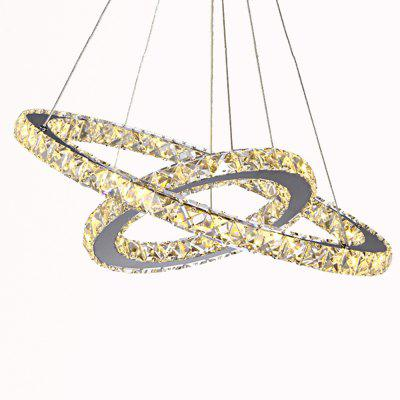 Popular Diamond Ring LED Crystal Pendant Light Modern Circles Hanging Lamp for Dining Room Lighting Home DecorationPendant Light<br>Popular Diamond Ring LED Crystal Pendant Light Modern Circles Hanging Lamp for Dining Room Lighting Home Decoration<br><br>Battery Included: No,Non-preloaded<br>Bulb Base: None<br>Bulb Included: Yes<br>Bulb Type: LED<br>Certifications: CE,FCC,RoHs<br>Chain / Cord Adjustable or Not: Chain / Cord Adjustable<br>Chain / Cord Length ( CM ): 120<br>Color Temperature or Wavelength: LED cool white is 6000K,LED warm white is 3000K.<br>Decoration Material: Crystal<br>Dimmable: No<br>Features: Crystal, Bulb Included<br>Finish: Electroplating,Stainless Steel<br>Fixture Height ( CM ): 6<br>Fixture Length ( CM ): 60<br>Fixture Material: Crystal,Metal<br>Fixture Width ( CM ): 60<br>Light Direction: Ambient Light<br>Light Source Color: Cold White,Warm White<br>Lumen: 2500<br>Number of Tiers: Dual Tier<br>Package Contents: 1 x Pendant Light<br>Package size (L x W x H): 67.00 x 67.00 x 13.00 cm / 26.38 x 26.38 x 5.12 inches<br>Package weight: 6.8000 kg<br>Product size (L x W x H): 60.00 x 60.00 x 120.00 cm / 23.62 x 23.62 x 47.24 inches<br>Product weight: 5.4000 kg<br>Remote Control Supported: No<br>Shade Material: Crystal<br>Stepless Dimming: No<br>Style: LED, Chic &amp; Modern, Artistic Style, Modern/Contemporary, Simple Style<br>Suggested Room Size: 10 - 15?<br>Suggested Space Fit: Bedroom,Boys Room,Cafes,Dining Room,Entry,Girls Room,Indoor,Kids Room,Living Room,Office,Pathway<br>Type: Pendant Light<br>Voltage ( V ): 110V - 220V,220V - 240V<br>Wattage (W): &gt;20