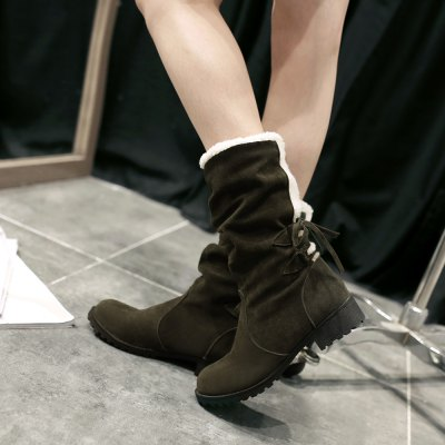 New Style Leisure Cylinder  Cashmere Thickening Warm Winter BootsWomens Boots<br>New Style Leisure Cylinder  Cashmere Thickening Warm Winter Boots<br><br>Boot Height: Knee-High<br>Boot Tube Circumference: 32<br>Boot Tube Height: 22<br>Boot Type: Snow Boots<br>Closure Type: Slip-On<br>Gender: For Women<br>Heel Height: 3.5<br>Heel Height Range: Low(0.75-1.5)<br>Heel Type: Chunky Heel<br>Package Contents: 1XShoes (pair)<br>Pattern Type: Solid<br>Season: Winter<br>Shoe Width: Medium(B/M)<br>Toe Shape: Round Toe<br>Upper Material: Cotton Fabric<br>Weight: 1.3440kg