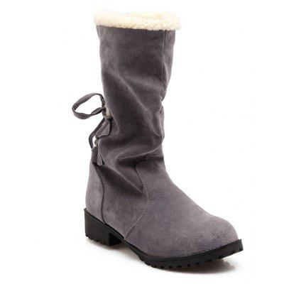 New Style Leisure Cylinder  Cashmere Thickening Warm Winter Boots
